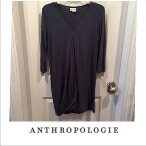 {Anthropologie} Meadow Rue V-neck draped dress